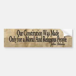 Our Constitution Was Made - John Adams Bumper Sticker