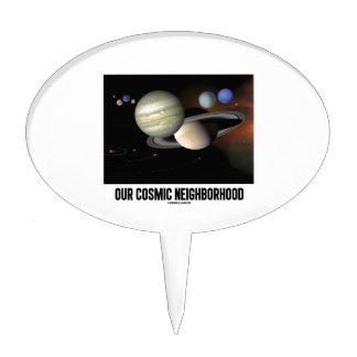 Our Cosmic Neighborhood (Solar System) Cake Topper