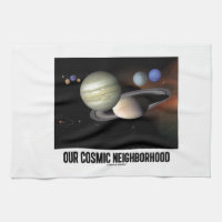 Our Cosmic Neighborhood (Solar System) Hand Towels