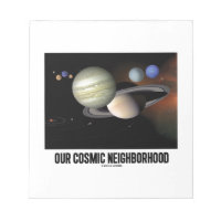 Our Cosmic Neighborhood (Solar System) Note Pads