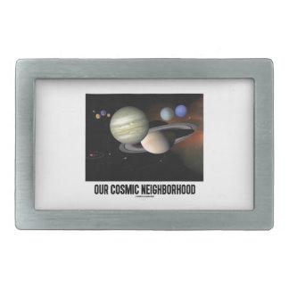 Our Cosmic Neighborhood (Solar System) Rectangular Belt Buckle