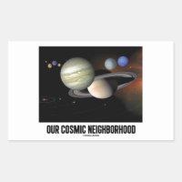 Our Cosmic Neighborhood (Solar System) Rectangular Sticker