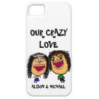 Our Crazy Love Cartoon Couple iPhone 5 Cover