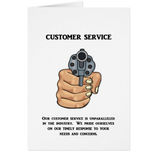 our-customer-service-is-unparalleled greeting card