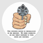 our-customer-service-is-unparalleled round sticker