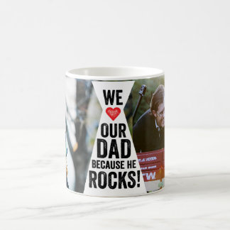 Our Dad Rocks Photo Mug