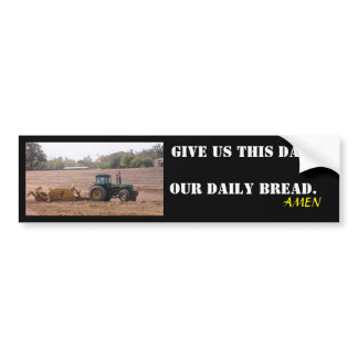 Our daily bread tractor sticker