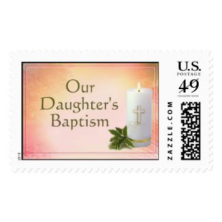 Our Daughter's Baptism Postage Stamp