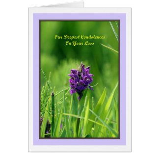Our Deepest Condolences On Your Loss Greeting Card