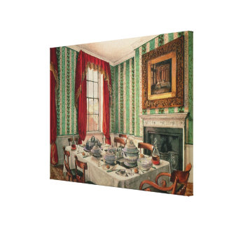 Our Dining Room at York, 1838 Canvas Print