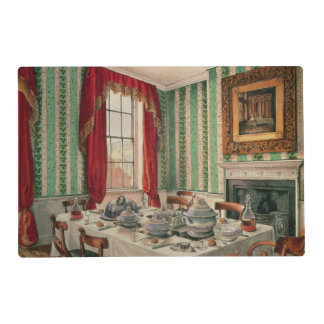 Our Dining Room at York, 1838 Laminated Placemat