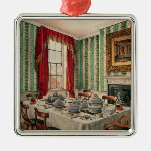 Our Dining Room at York, 1838 Christmas Ornament