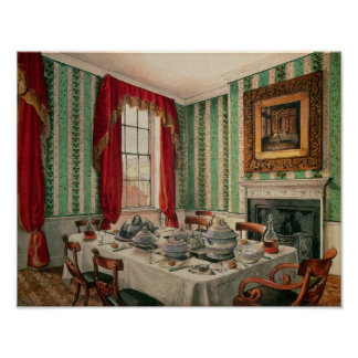 Our Dining Room at York, 1838 Poster