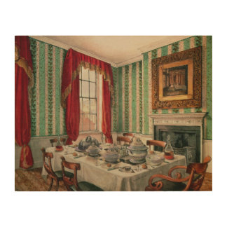 Our Dining Room at York, 1838 Wood Print
