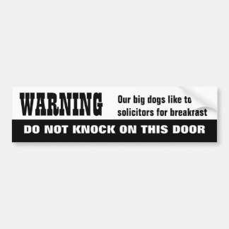 Our Dogs EAT Solicitors Car Bumper Sticker