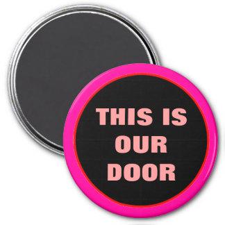 Our Door Stateroom Round Door Marker 3 Inch Round Magnet