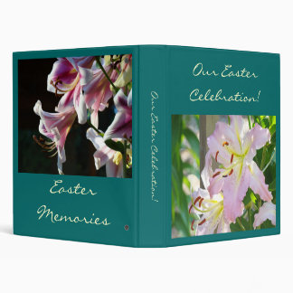 Our Easter Celebration! album binder Pink Lilies