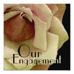 Our Engagement - Gold Rose Custom Invitations