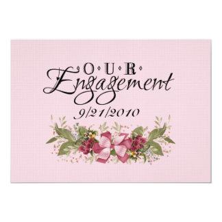 Our Engagement Custom Invitation