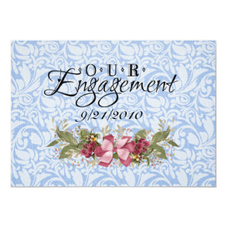 Our Engagement Custom Invitations