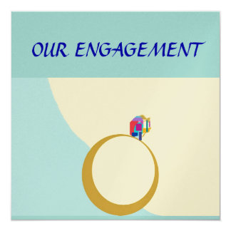 Our Engagement>Zazzle custom card