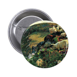 Our English Coast (Stray Sheep) By Hunt William 2 Inch Round Button