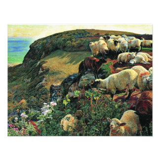 Our English Coast Stray Sheep By Hunt William Custom Invites