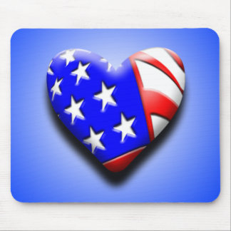 Our Exclusive Heart Flag Mouse Pad