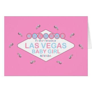 Our Fabulous Las Vegas Baby Girl Card