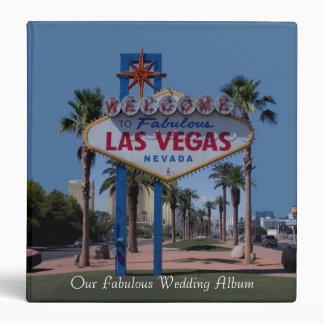 Our Fabulous Las Vegas Wedding Album 3 Ring Binder