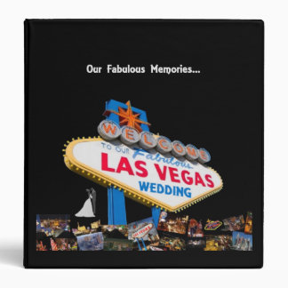 Our Fabulous Memories Las Vegas Wedding Album Binder