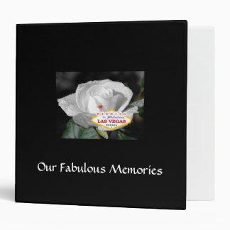 Our Fabulous Memories Las Vegas Wedding Album 3 Ring Binder