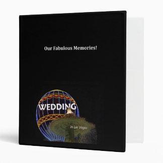 Our Fabulous Memories WEDDING in Las Vega Album 3 Ring Binder
