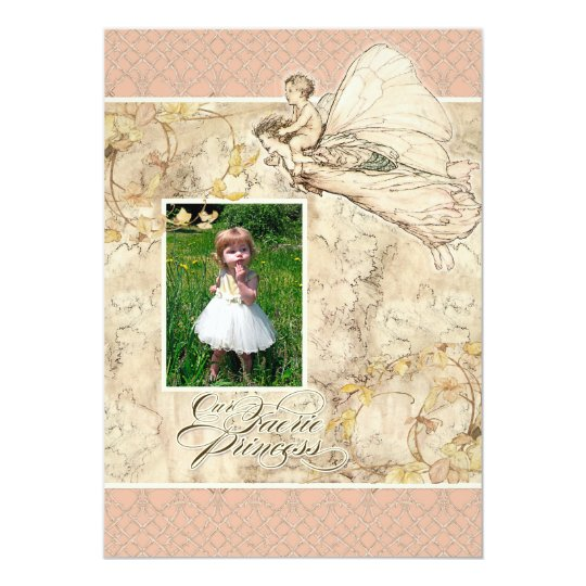 Our Faerie Princess, Baby Girl Birthday Party Card