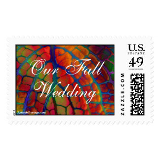 Our Fall Wedding Postage Stamp