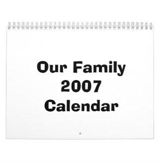 Our Family 2007 Calendar