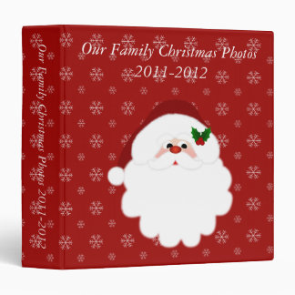 Our Family Christmas 1.5 inch (Add Your Own Text) Binder