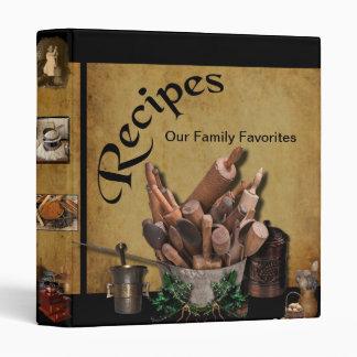 """Our Family Favorites- 1"""" Recipe Binder- NEW 3 Ring Binder"""