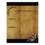 Our Family Favorites- Recipe Page Inserts 2 Letterhead Design