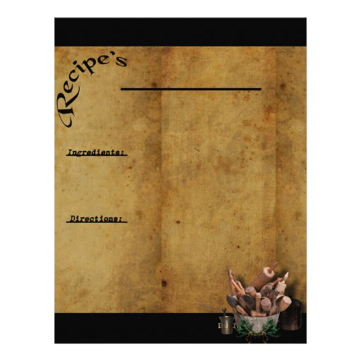 Our Family Favorites- Recipe Page Inserts 2 Letterhead