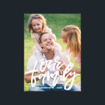 "Our Family Hand Lettered Script Personalized Canvas Print<br><div class=""desc"">Customizable canvas print featuring hand-lettered script &quot;Our Family&quot;. This will be a perfect accent to any home.</div>"