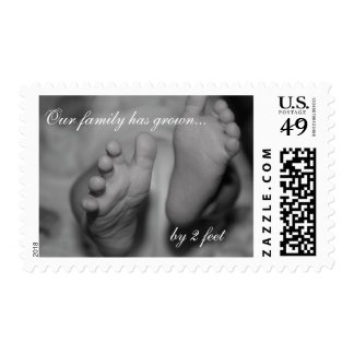 Our family has grown by 2 feet Newborn Photo Stamp