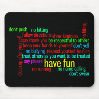 Our Family Rules Mouse Pad