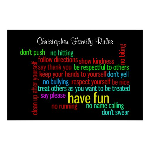 Our Family Rules Print