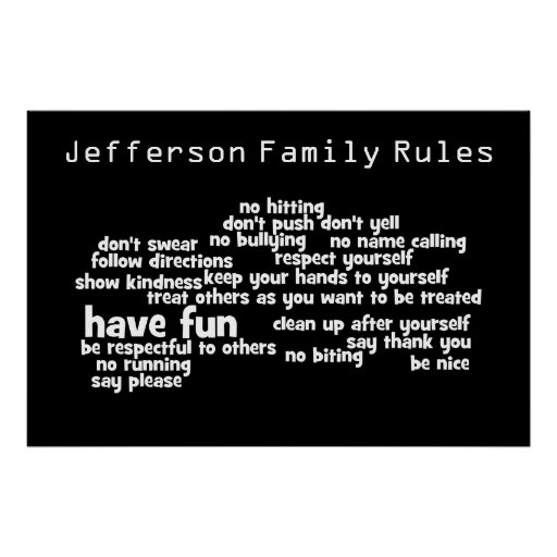 Our Family Rules Poster