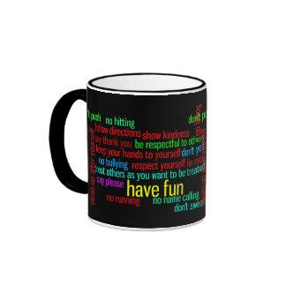 Our Family Rules Ringer Mug