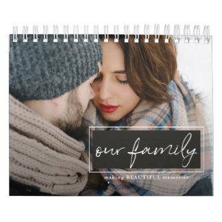Our Family Script Photo Calendar