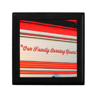 our family serving yours on firetruck door. trinket boxes
