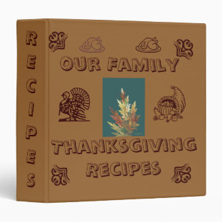 Our Family Thanksgiving Recipes Binder