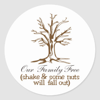 Our Family Tree Classic Round Sticker
